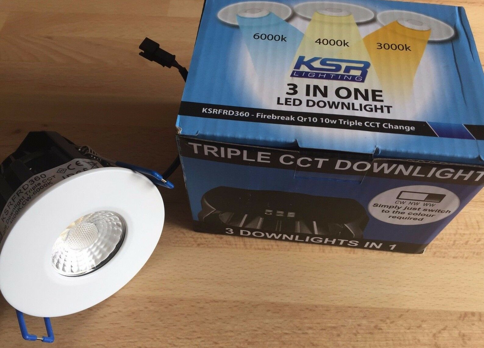LED 10 Watt Colour Switchable Downlight KSRFRD374-Replaces KSRFRD200 230 Units
