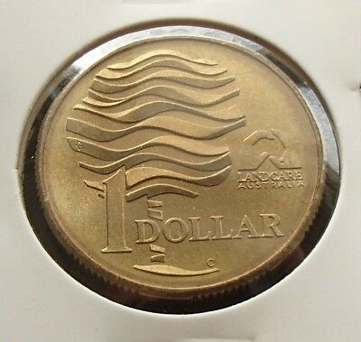 S Mint Mark Uncirculated 1993-S Australia Landcare $1 One Dollar Coin