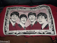 THE BEATLES ULSTER LINEN OFFICIAL COMMEMORATIVE TEA TOWEL GENUINE ITEM 1964 FAB!