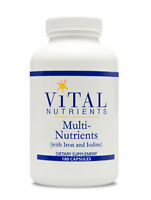 Vital Nutrients Multi-nutrients With Iron & Iodine 180 Caps