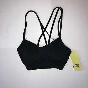 All in Motion Low Support Strappy Longline Bra Black Sports Yoga Small NWT NNN5