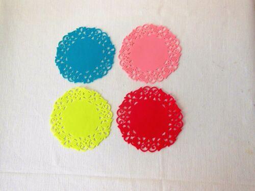 4 unidades 4 colores geschnitzelte silicona vidrio posavasos Ø 9,5 cm