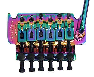 Guitar Parts FLOYD ROSE SPECIAL Locking Trem Bridge R3 BURNT CHROME Neo Rainbow