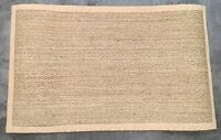 Pottery Barn Natural Color-bound Seagrass 3x5' Rug Authentic