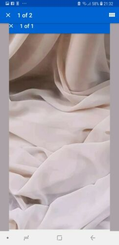 "1M SOFT  blush COLOURED CHIFFON FABRIC 44/"" WIDE"
