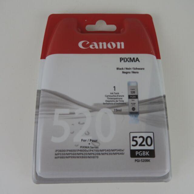 GENUINE ORIGINAL CANON PIXMA BLACK INK CARTRIDGE PGI-520BK PGI-520 PGI520