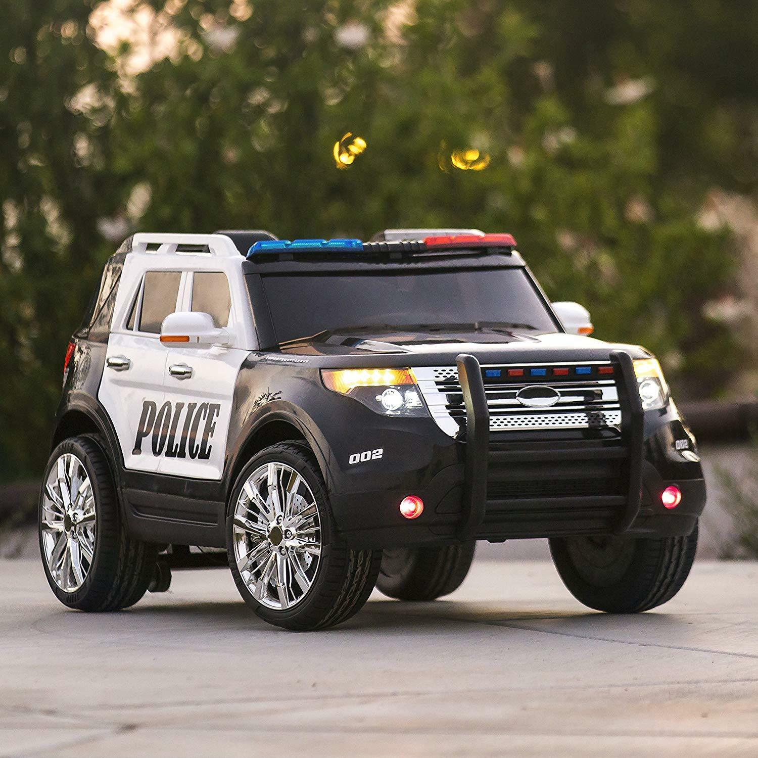 12V  Ford Style Kids Ride On Car Police Car W  Remote Control 2 Speed LED Lights