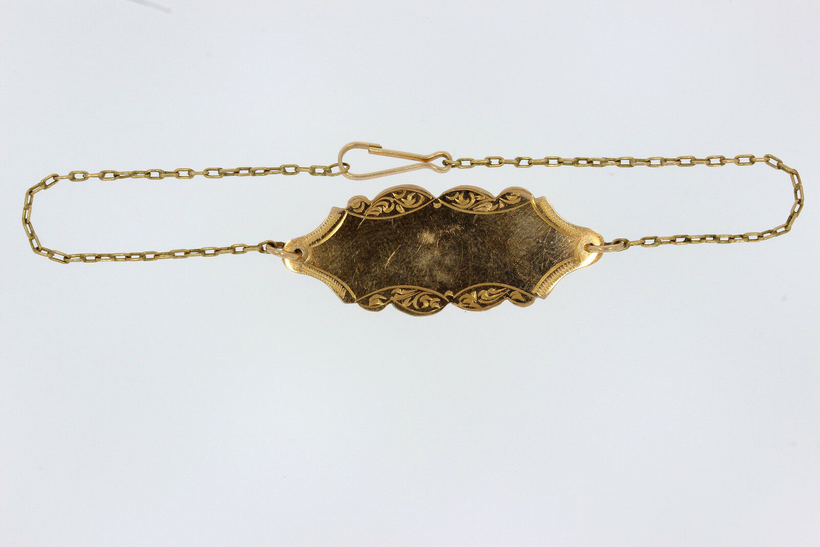 7614-333er yellowgold Armkätchen mit Plakat Lang 18,5 cm Gewicht 1,8 Gramm