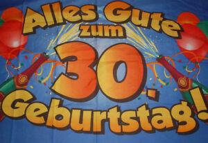 Alles Gute Zum 30 Geburtstag Fahne Flagge Hissflagge Hissfahne 150 X