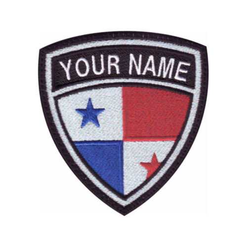 Panama Flag Personalized Crest Embroidered Patch