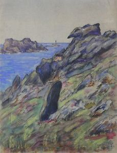 Ouessant-Technique-mixed-postimpressionniste-signed-located-and-dated-21