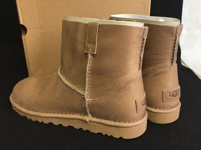 ba45f90d487 Ugg Australia Classic Unlined Mini Metallic Gold Women's 1018412 Spring  Boots
