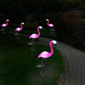LED-Solar-Flamingo-Rasenlampe-Solarleuchte-Beleuchtung-Wasserdichte-Garten-DE