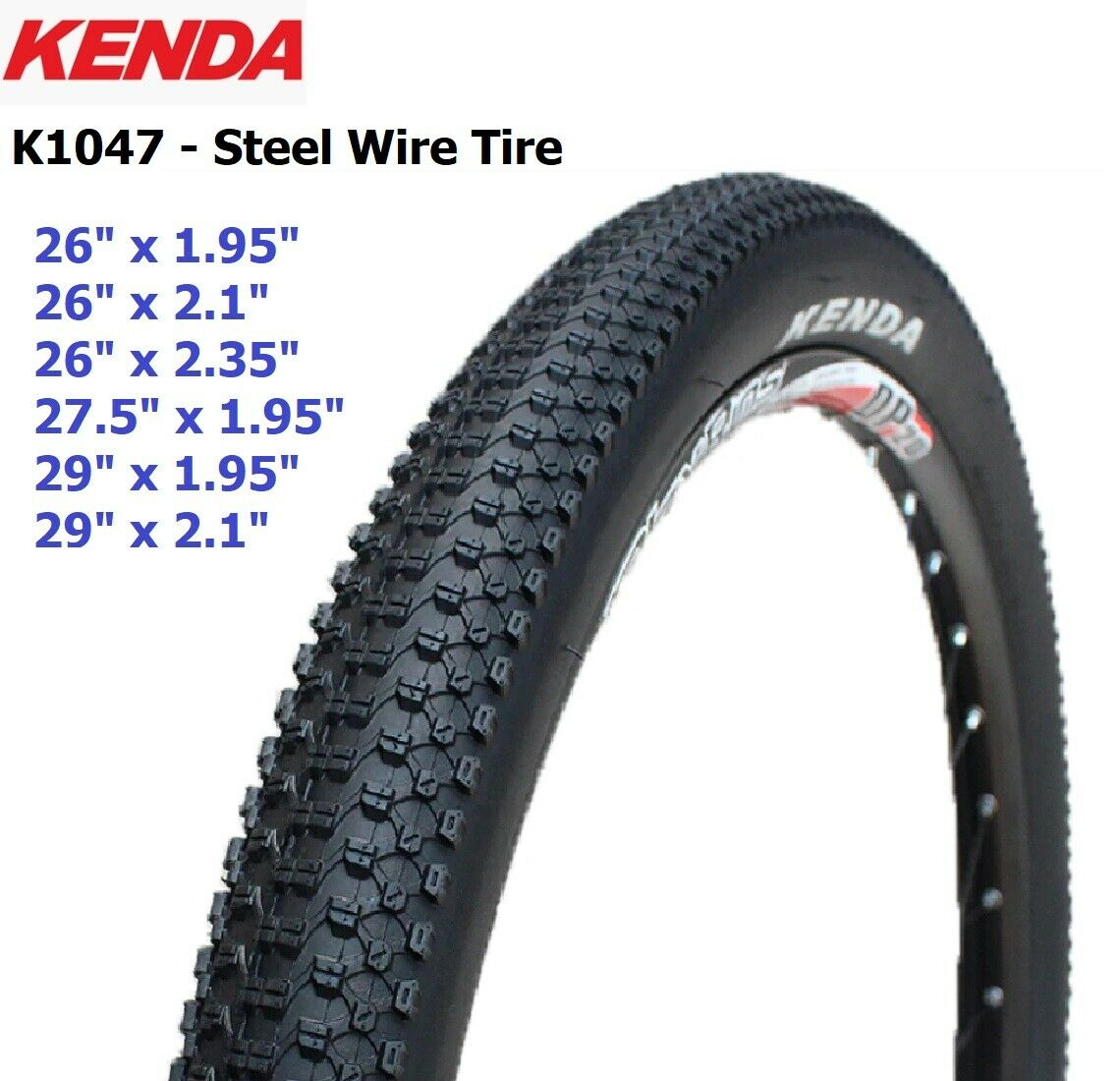 Kenda Kadre 27.5 x 2.6 Clincher Wire Mountain Bike Black Tire 30tpi NEW