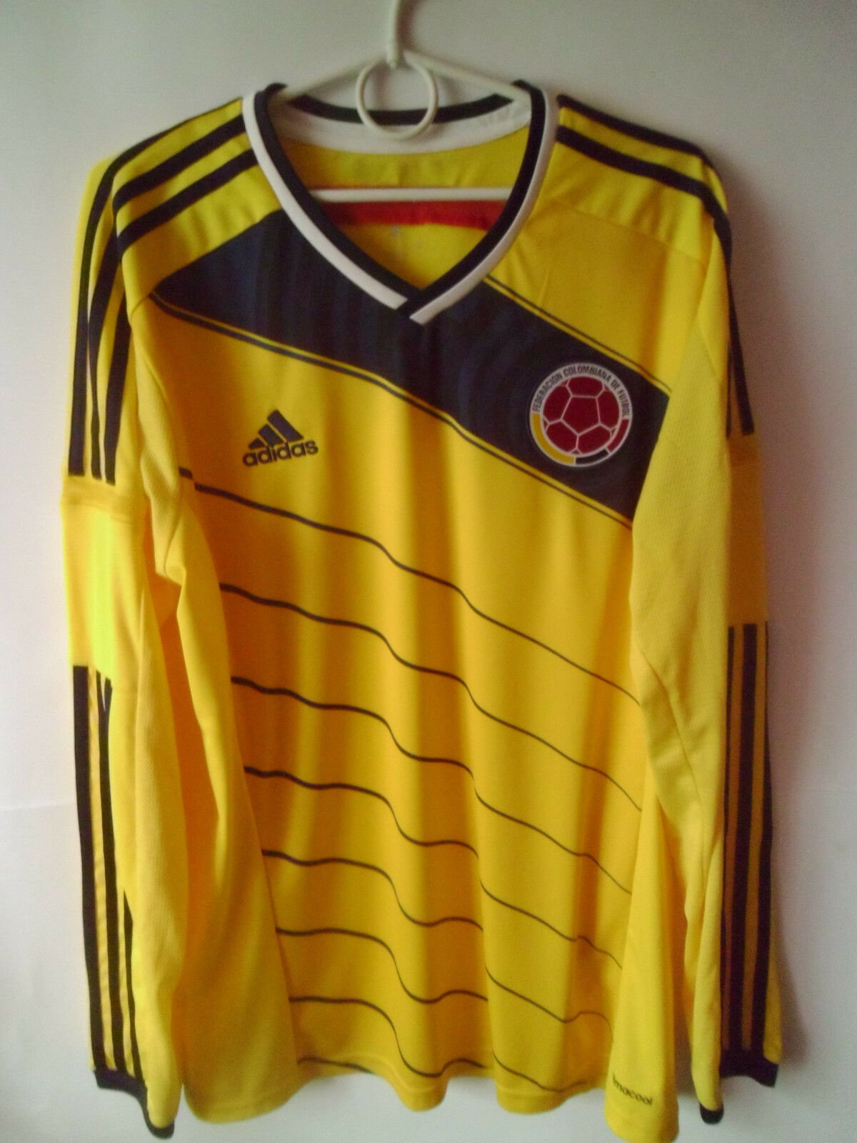 EXCELLENT     RARE     2014-15 Colombia Home Shirt Jersey Trikot Long Sleeve L