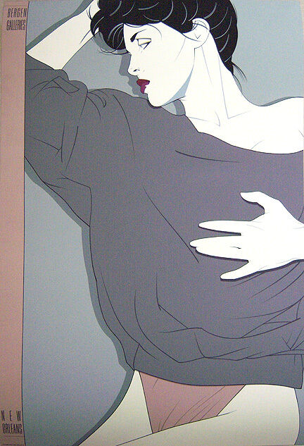 PATRICK NAGEL Original 1987 Color Serigraph