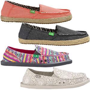 Details about Sanuk Sidewalk Surfer Damen Slip Ons Loafers Summer Shoes Canvas Shoes Shoes