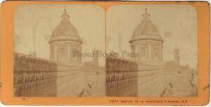 Italia Palermo Cattedrale Stereo Jean Andrieu Parigi Albumina C 1870