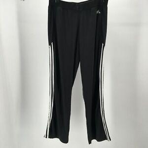 Adidas-Classic-Track-Pants-Athletic-Three-Stripe-Elastic-Waist-Black-Mens-XL