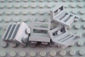 LEGO Lot of 25 Light Bluish Gray 1x2 Creator Handle Plate Pieces
