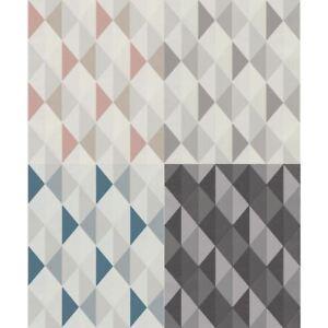Grandeco Orion Triangle Geometric Non Woven Pastel Colour 3d Effect