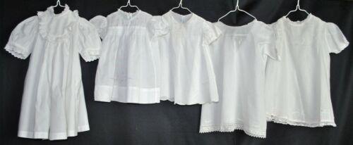 Antique Children's Cotton Day Dresses Lot of 5
