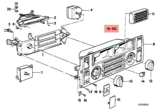Genuine BMW 6 Series E24 Coupe Heater Control Flaps Repair Set OEM 64111372476