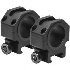 NcStar VISM Black Aluminum Quick Detach Weaver Picatinny 30mm Rifle Scope Rings