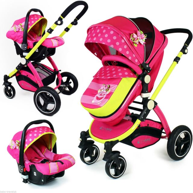 i-Safe System - Mea Lux Pram & Luxury Stroller 3 in 1 Complete with Car Seat