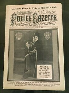 CHARLIE CHAPLIN - 1929 NATIONAL POLICE GAZETTE Magazine - Silent Film - Movie