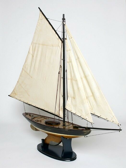Barco de Modelismo Modelo Madera Alta Calidad Stoffsegel Tela Antiguo Velero