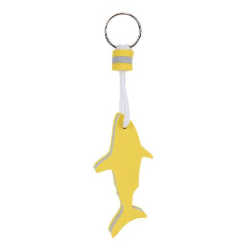 1pc EVA Floating Keychain For Water Sports Marine Boat Swimming Shark Keyri X 2C