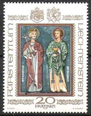 734 ** Landespatrone 1979 Bescheiden Liechtenstein Nr Postfrisch Moderne Techniken