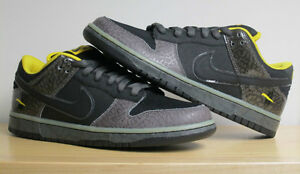 quality design 2fbef 28206 Image is loading NIKE-SB-DUNK-LOW-YELLOW-CURB-BLACK-MIDNIGHT-