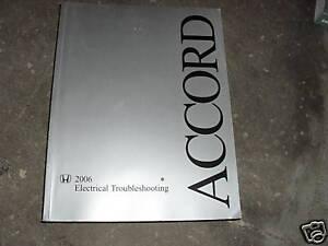 2006 Honda ACCORD Electrical Troubleshooting Wiring Service Shop Repair Manual