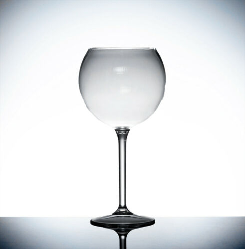 HG 4 x Large Clear Hard Plastic Reusable Gin Balloon Cocktail Glasses 600ml