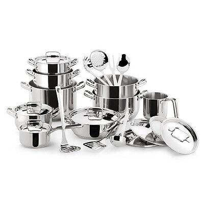 Lagostina batteria pentole sfiziosa 24 pz inox18 10 induzione induction cookware ebay - Pentole per cucine a induzione ...