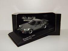 Porsche 911 Turbo (930) 1977 Schieferblau met. 430069007 Minichamps 1/43 O V P