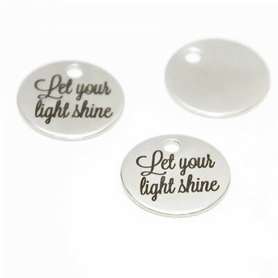10pcs//lot Never Let Anyone Dull Your charm Be yourself Spa-rkle pendant 20mm