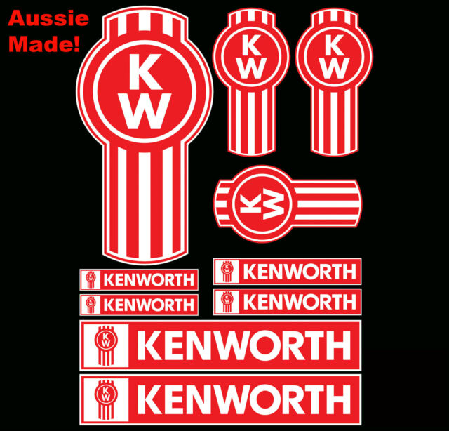 10 kenworth truck emblem decal sticker pack dash bullbar bonnet semi trailer