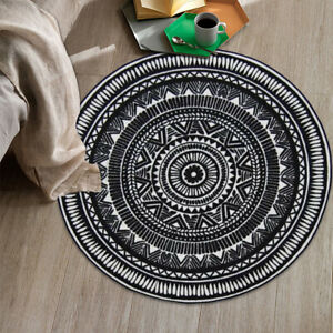 Round-Outdoor-Floor-Rug-Mat-Pads-Geometric-Acrylic-Fibres-Non-slip-Carpet