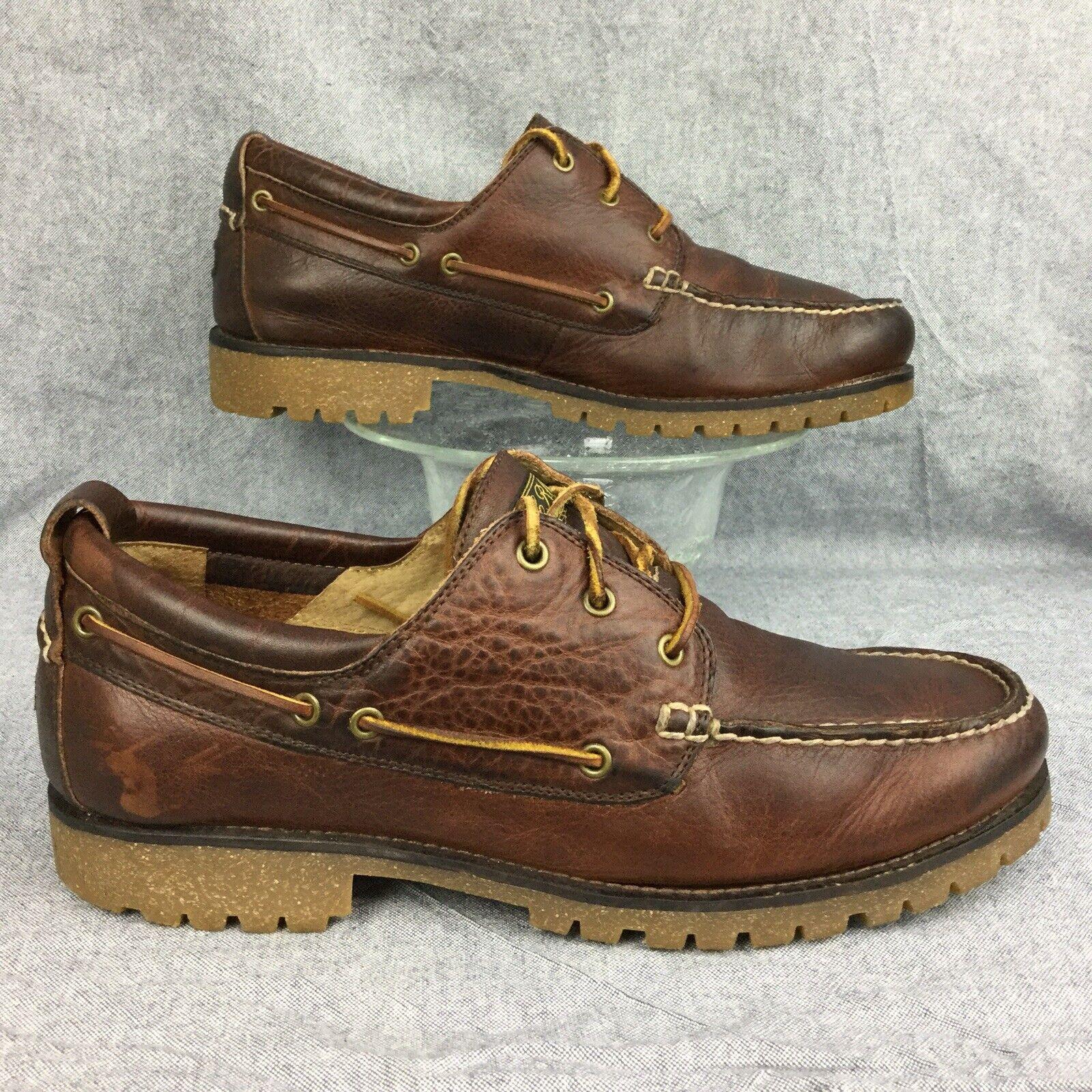 Vintage POLO RALPH LAUREN REEGAN Engineer grain moc toe boat oxford boot shoe 10