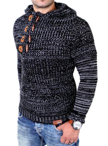 Tazzio jersey de punto señores grob truco invierno capucha jersey tz-440 nuevo