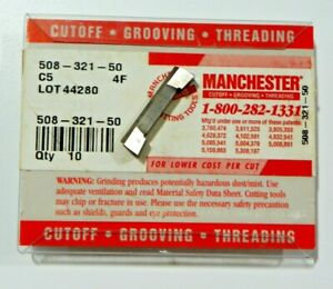 10-PIECES-MANCHESTER-508-321-50-C5-CARBIDE-INSERTS-H428