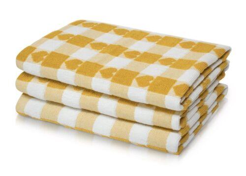 100/% coton Coeurs contrôles Thé Serviette Pack De Trois grands 50 x 70 cm T serviette