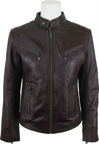 100 Jacket Fashion Real Short Leather Unicorn Womens 1B5PxwqSz