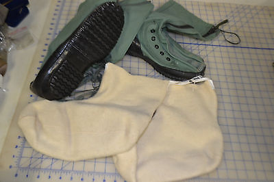 MUKLUK boots size LARGE USA made USGI military issue w/ wool liner NEW