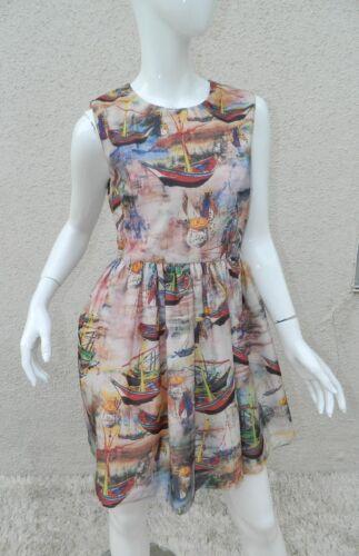 Medium Is Size Dress Skater Acquerello Brown Charm Sailboat Bazaar zOxpqA