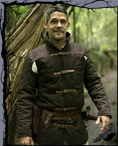 Details about  /Gambeson Vest Medieval Jacket Armor Thick Padded Costumes Dress Sca
