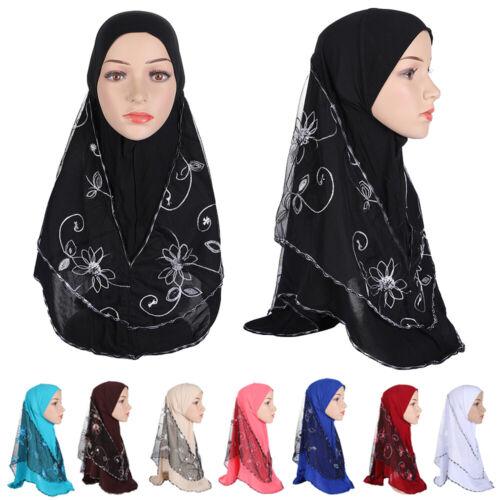 45pcs Islam Muslim Prayer Hijab One Piece Headscarf Women Amira Head Wrap Scarf